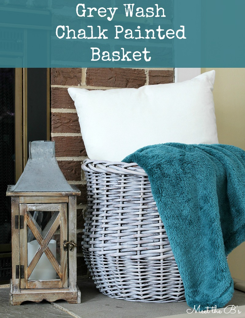 Chalk Painted Basket