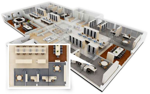 Office space planning rsb furiture for Outer space planning and design group