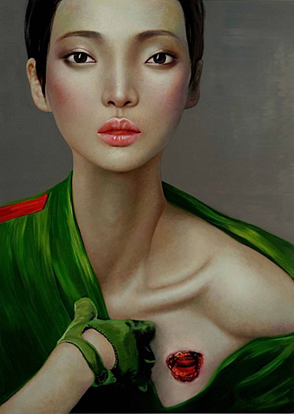 Ling Jian. Pintura. Doctor Ojiplatico