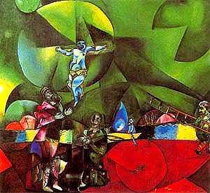 """""""Calvario"""" de Marc Chagall"""