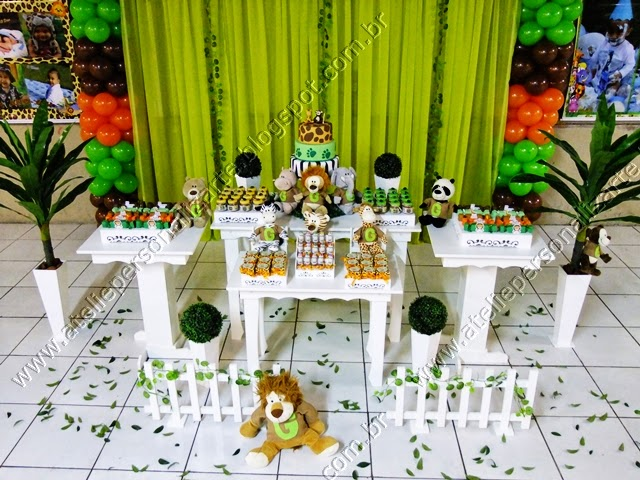 decoracao festa infantil safari selva floresta