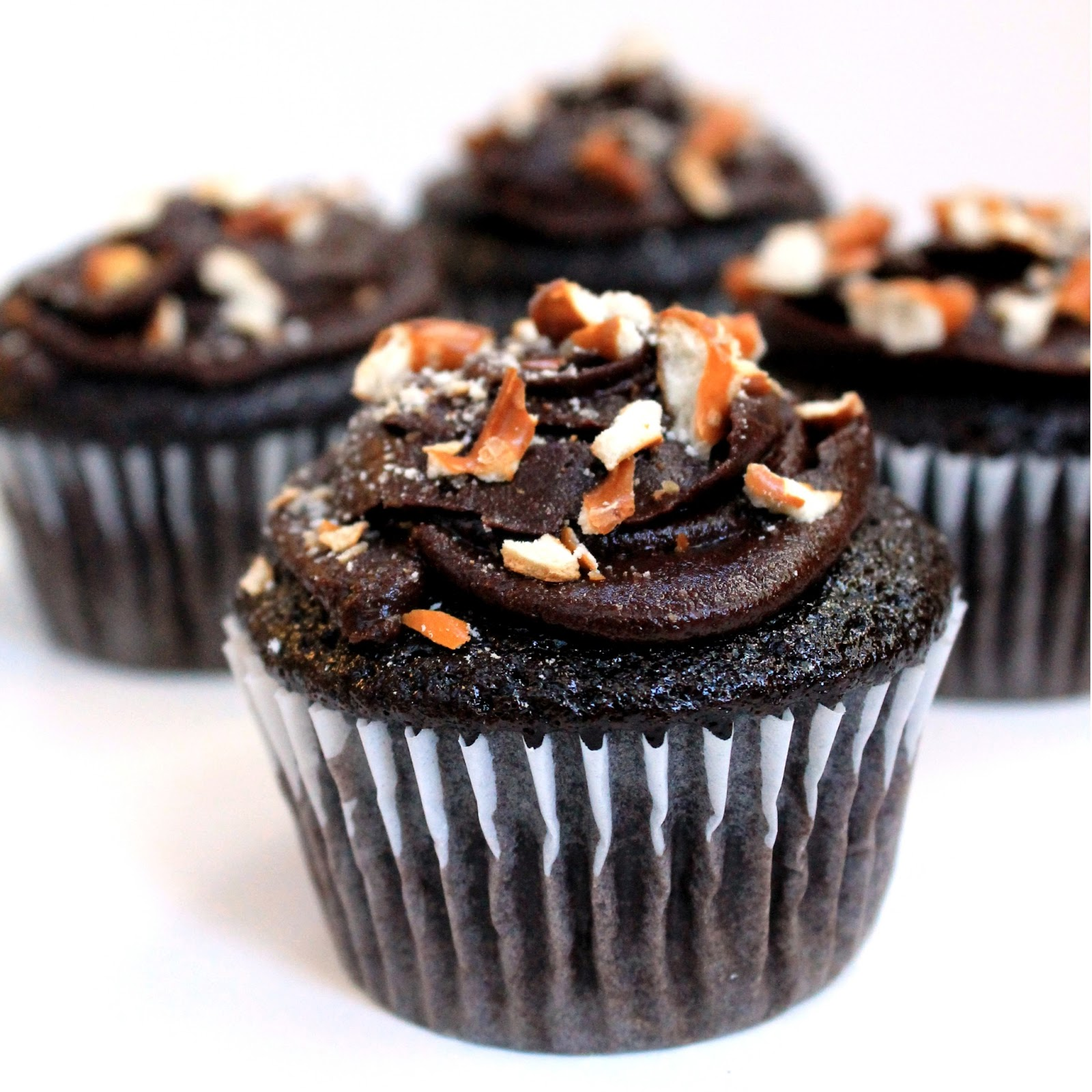 ... Cupcakes with Peanut Butter Filling, Whipped Chocolate Ganache, and