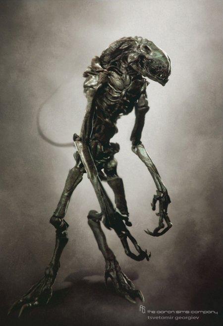 Tsvetomir Georgiev ilustrações artes conceituais e modelos 3D filmes Criatura alienígena