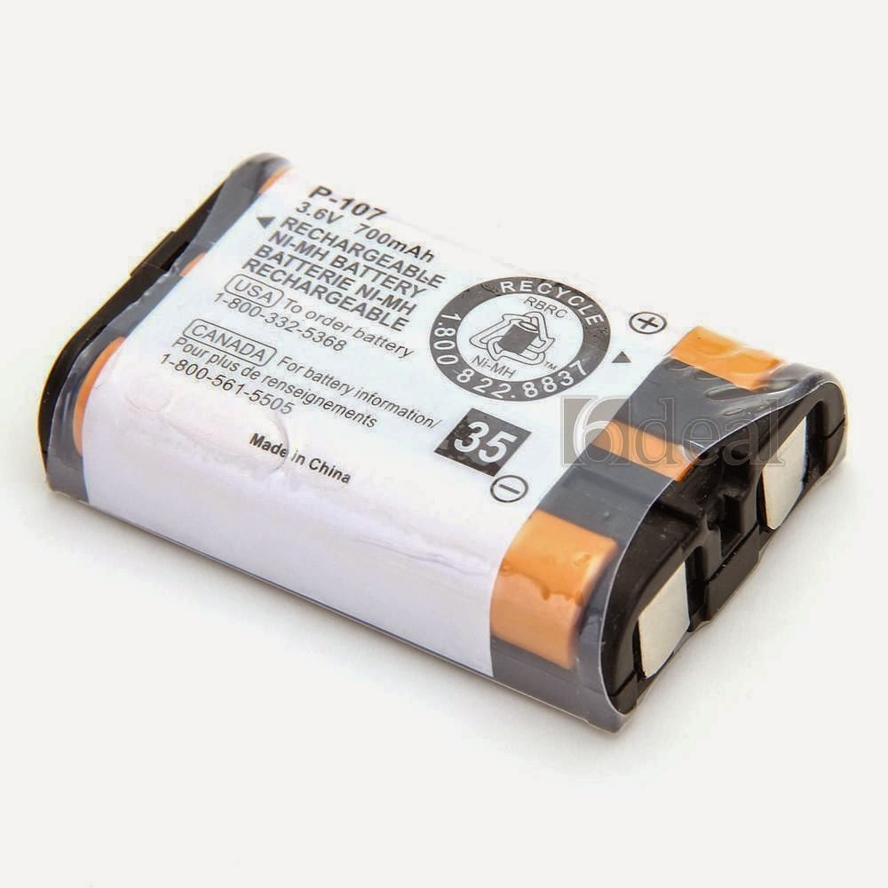Rechargeable Battery 700mAh for HHR-P107 HHRP107 Phone Panasonic KX-TG6021