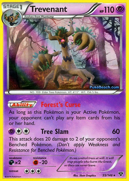 Trevenant -- Pokemon X and Y Card Review | Primetime ...