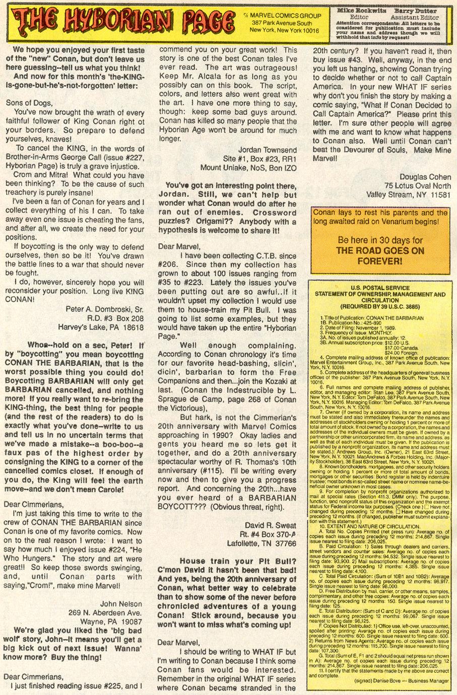 Conan the Barbarian (1970) Issue #234 #246 - English 25