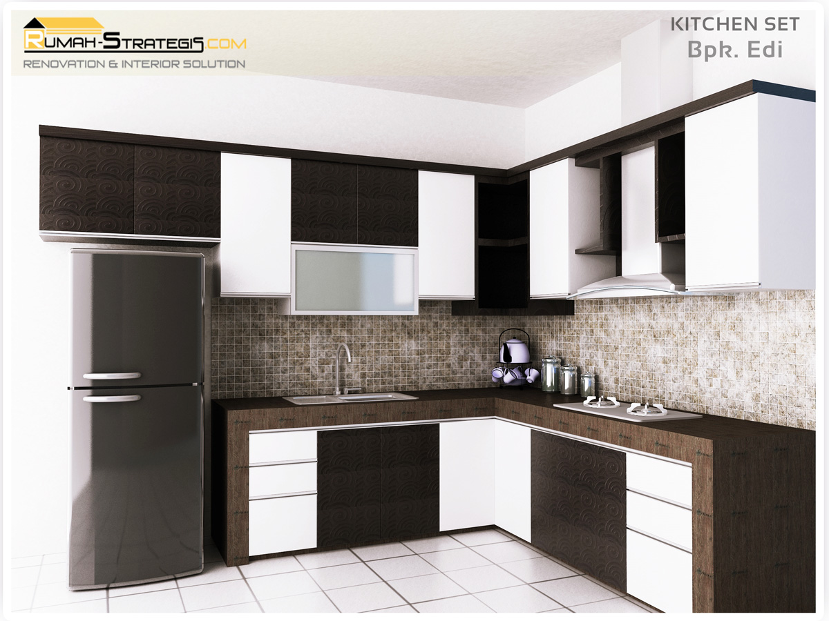 Kitchen interior design 2012 for Kitchen set hitam putih