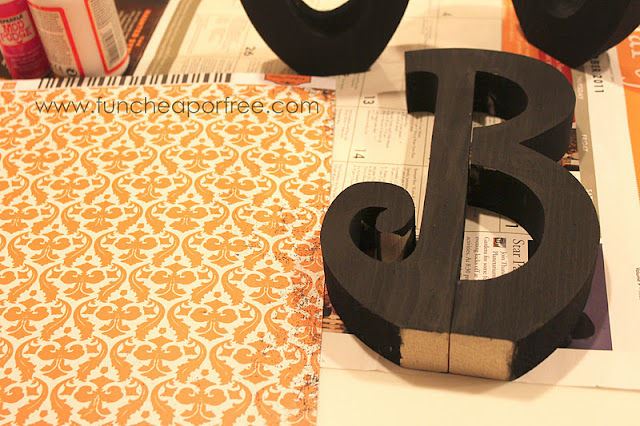 Painted wooden letter B, from Fun Cheap or Free