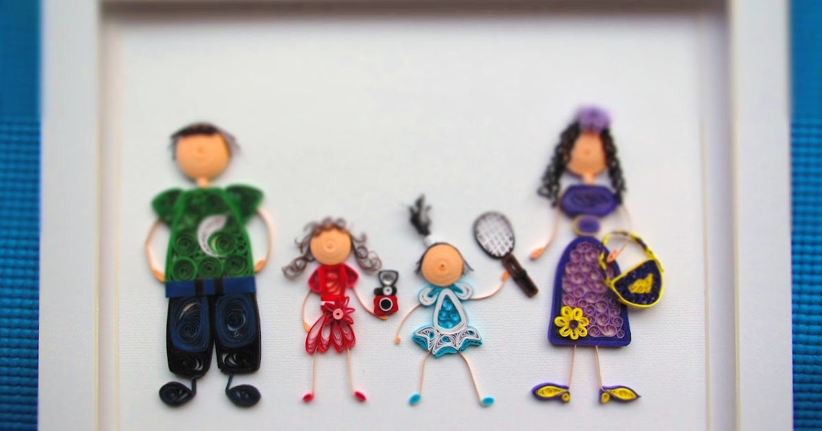 Happy Family - Quilled Framed Composition