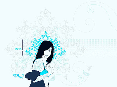beautiful girl wallpaper in drawing
