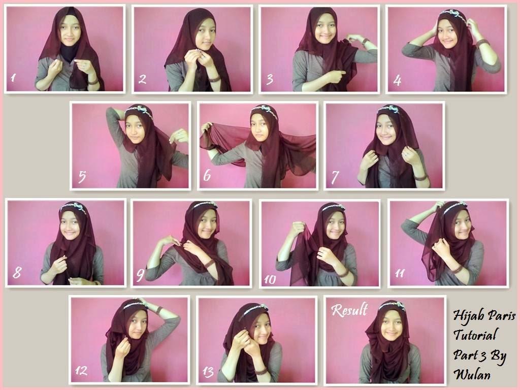 cara mudah memakai jilbab