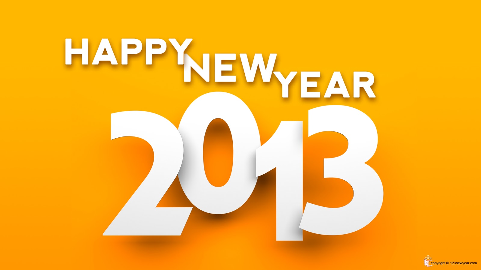 Happy New Year 2013 Vector Wallpapers