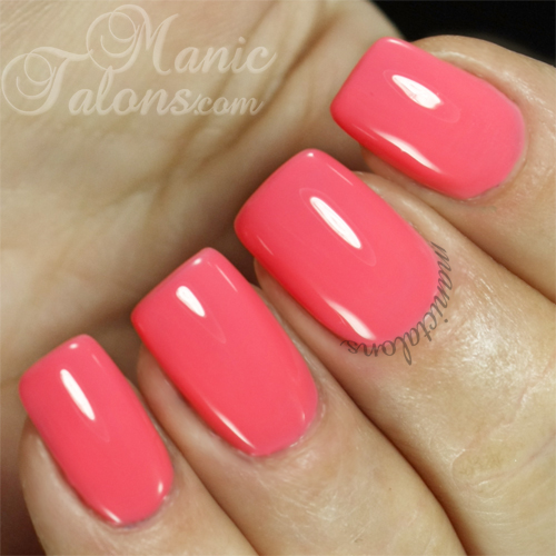 BMC Gel Polish Electric Flamingo Swatch