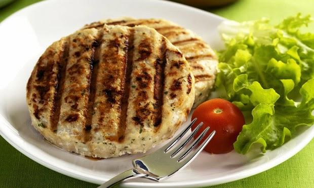 #receita de #hamburguer de frango