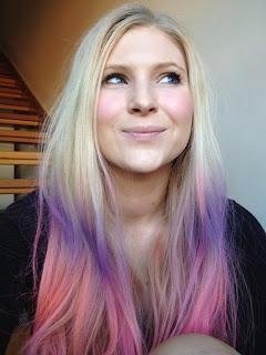 modern dip dye hair