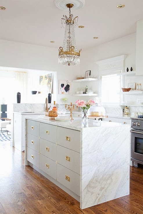 Brass kitchen inspiration via monicawantsit.com