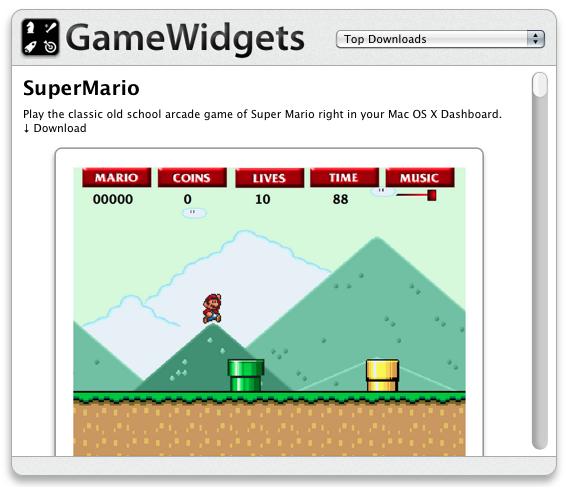 6. GameWidgets