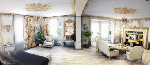 Hollywood regency style review ayanahouse for Villa rose riyadh interior design