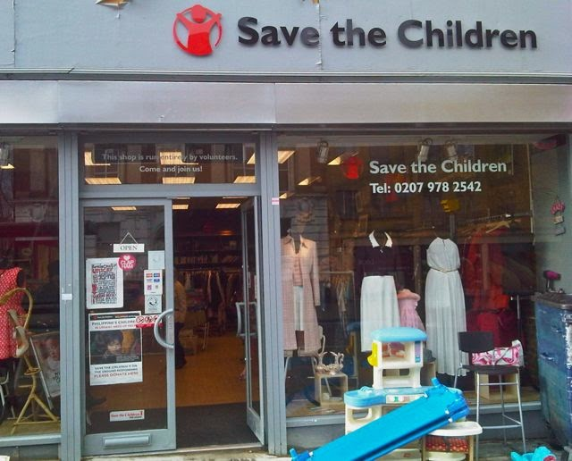 My Number 1 charity shop of 2014 - Save the Children on Clapham High Street, London SW4
