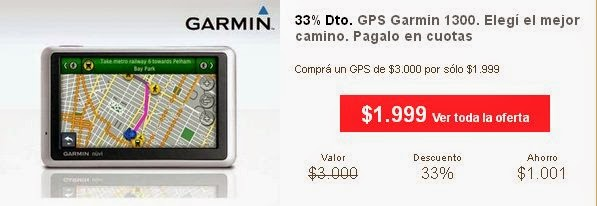 tecno promos argentina oferta gps garmin 1300. Black Bedroom Furniture Sets. Home Design Ideas