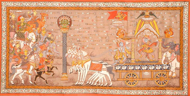 Patachitra Hindu Religious Painting