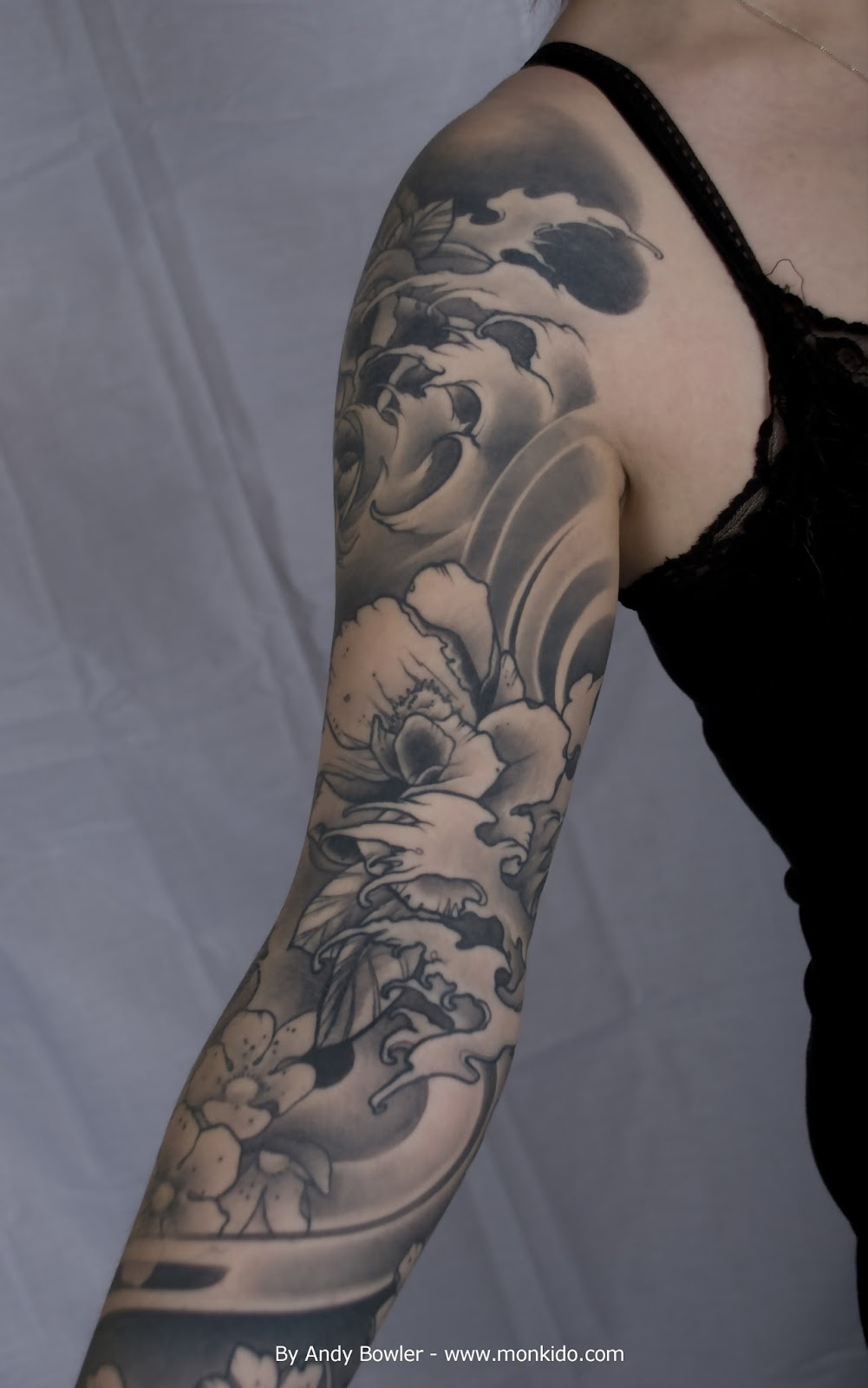 monki do tattoo studio custom japanese sleeve by andy