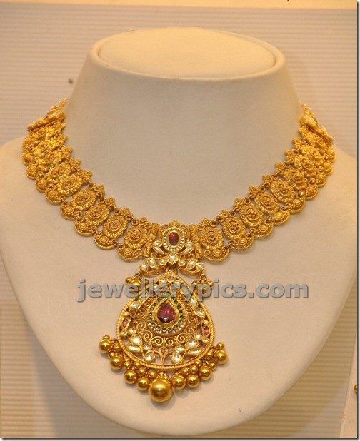 gold latest model necklace