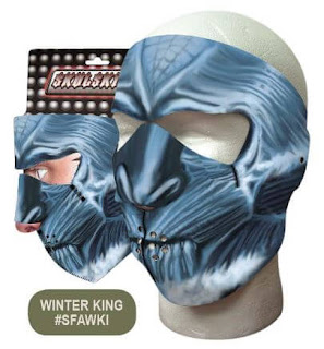 White Walker Neoprene Face Mask