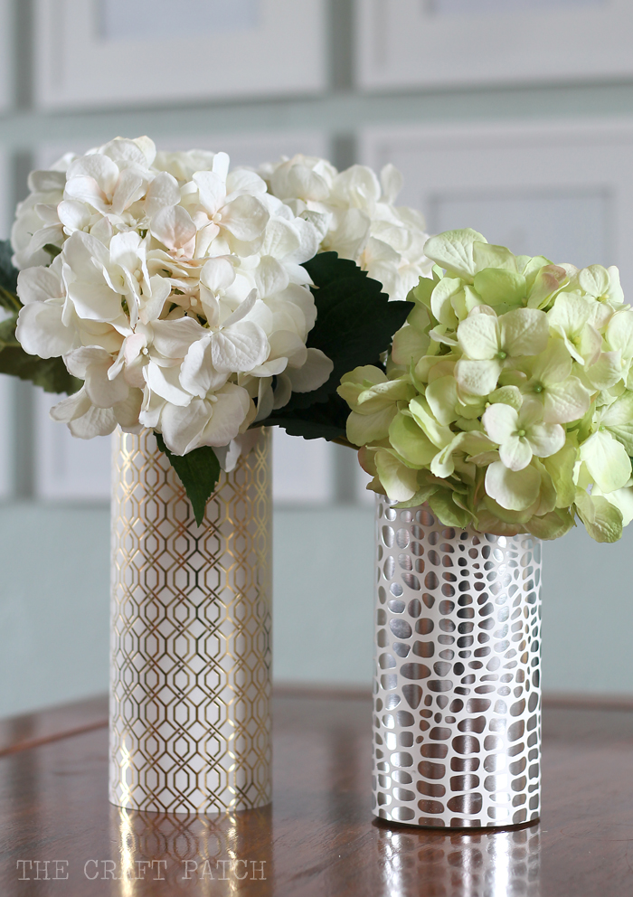 Diy geometric metallic vase thecraftpatch