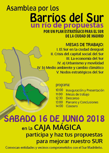 16 junio Asamblea  Barrios del Sur