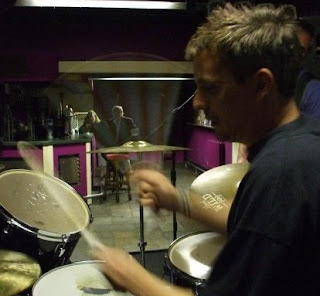 Steve Taylor-Bryant playing drums