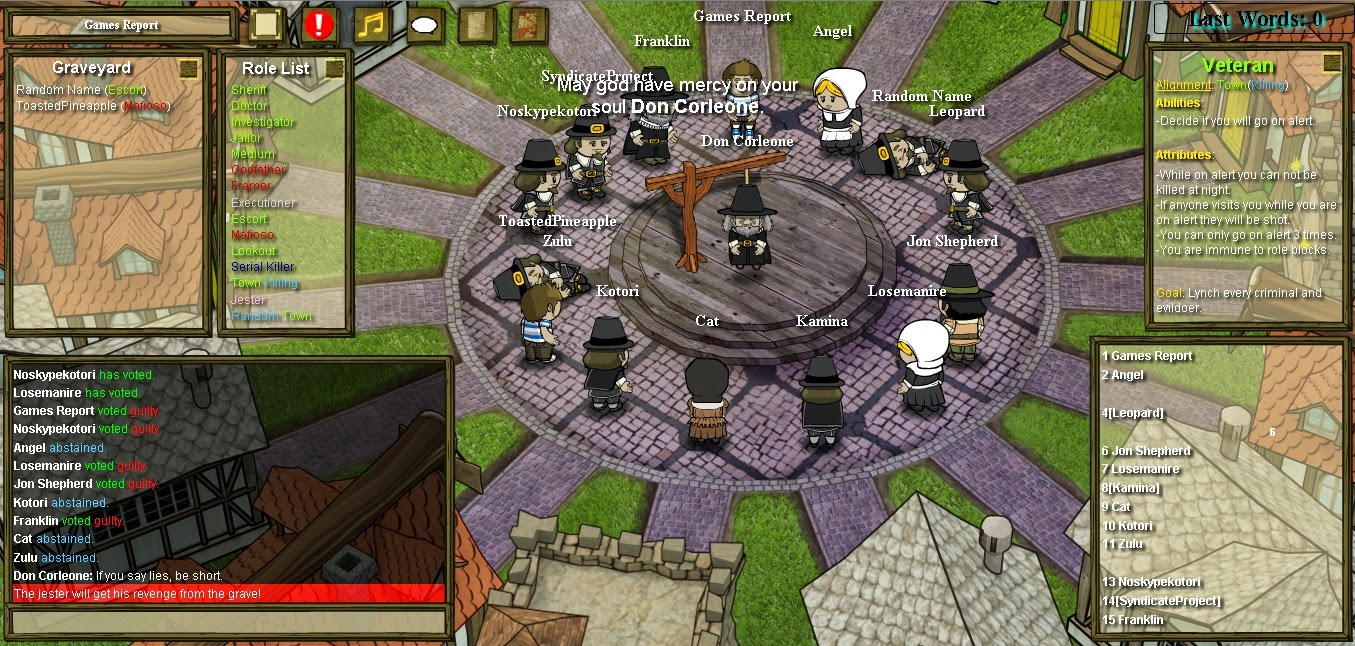 Town of Salem Hängen