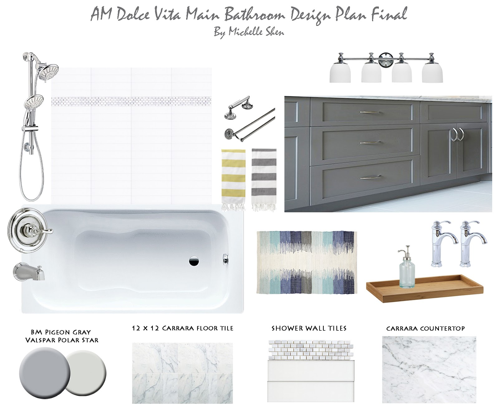 AM Dolce Vita: Main Bathroom Reveal: Before and After