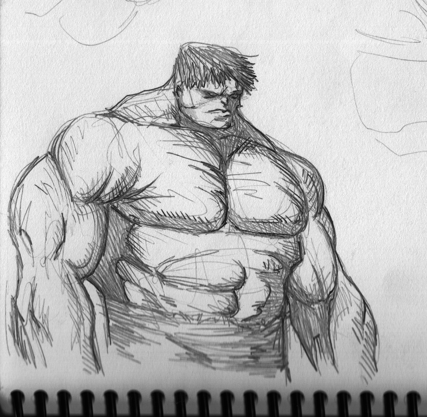 Warm up sketch hulk