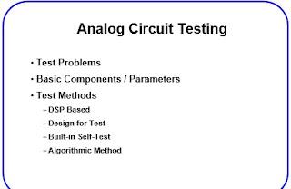 Analog Circuit Testing