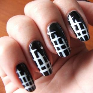 nokti slike crno beli motivi 009