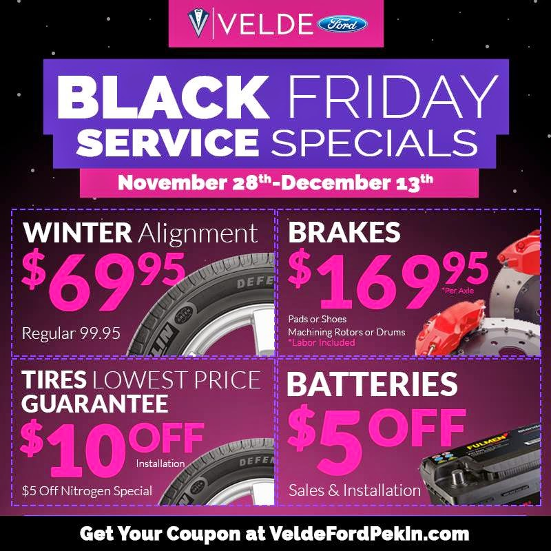 Black Friday Deals at Velde Ford