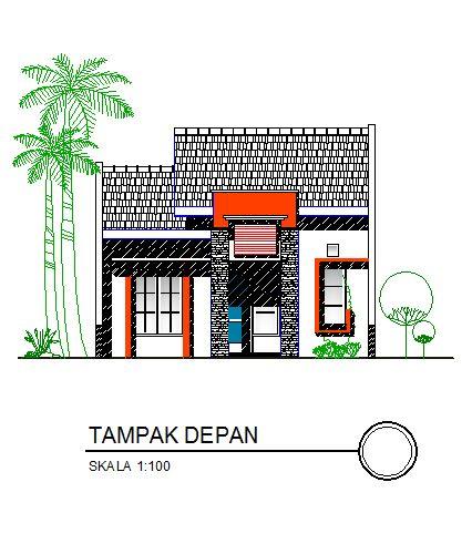 Sketsa Rumah Minimalis Type 36 Tampak Depan