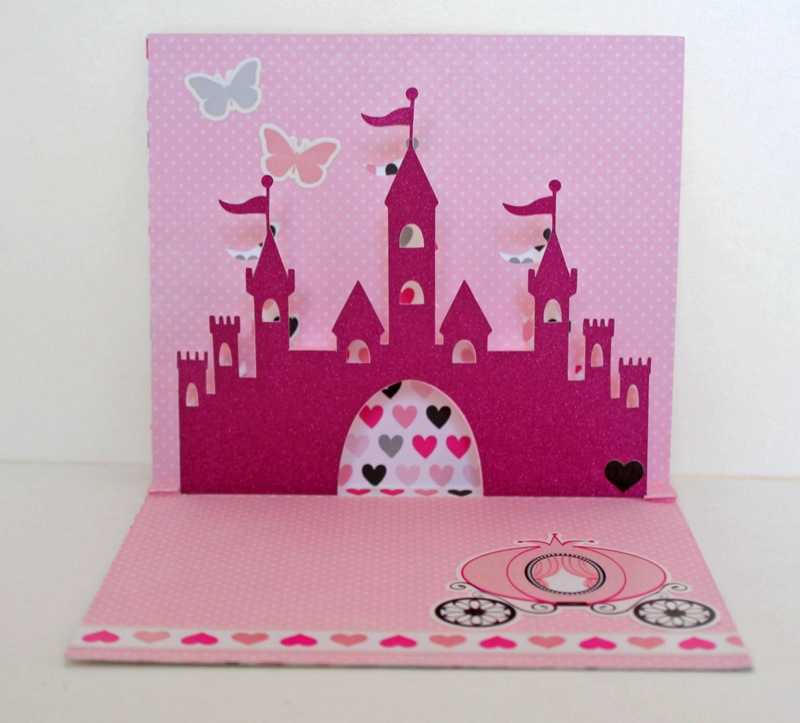 taylor stamped princess pop up birthday card, Birthday card
