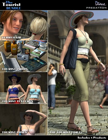 3d Models - The Tourist Bundle and Victoria 6 The Tourist Poses