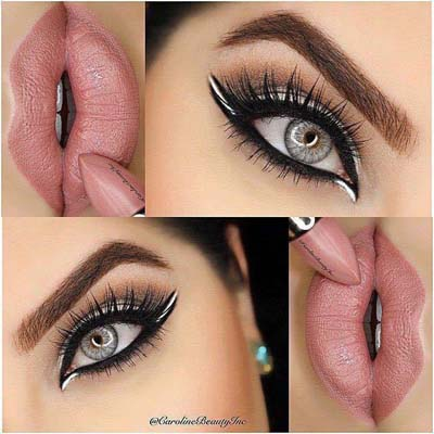 applying eye makeup  natural eye makeup ideas for women