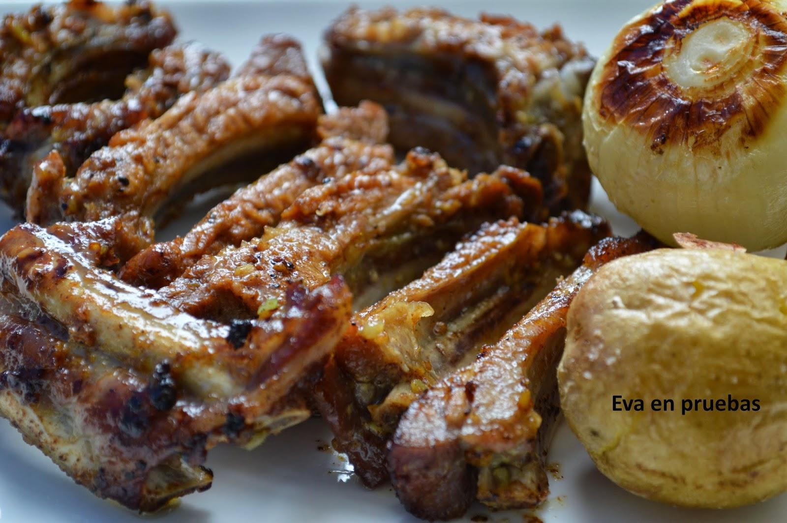 costillas de cerdo a la mostaza