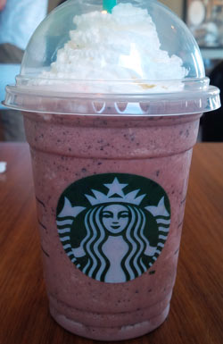 Image result for red velvet frappuccino starbucks
