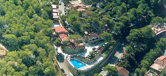 Vista aerea del Camping El Maset Girona