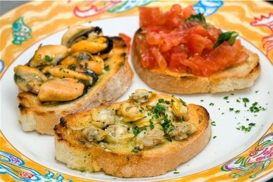 Riuso pane vecchio e raffermo - bruschette
