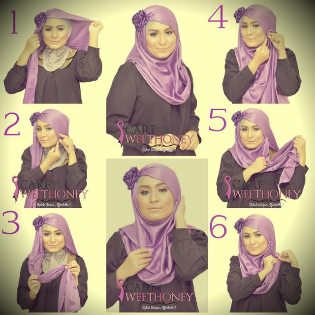 cara memakai hijab modis 2