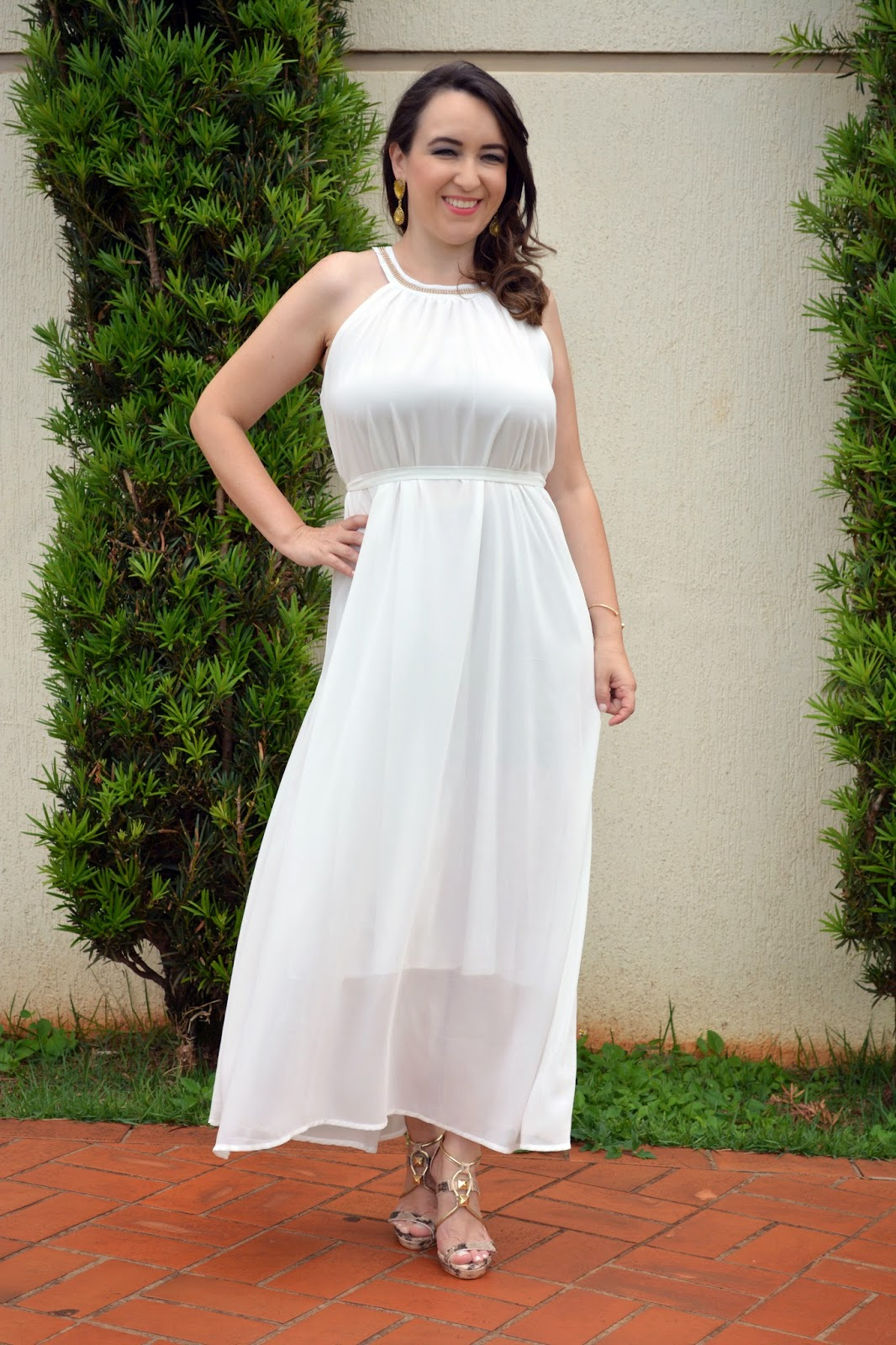 vestido midi branco, vestido midi, look do dia, vestido de ano novo, blog camila andrade, blog de moda em ribeirão preto, lalilu modas