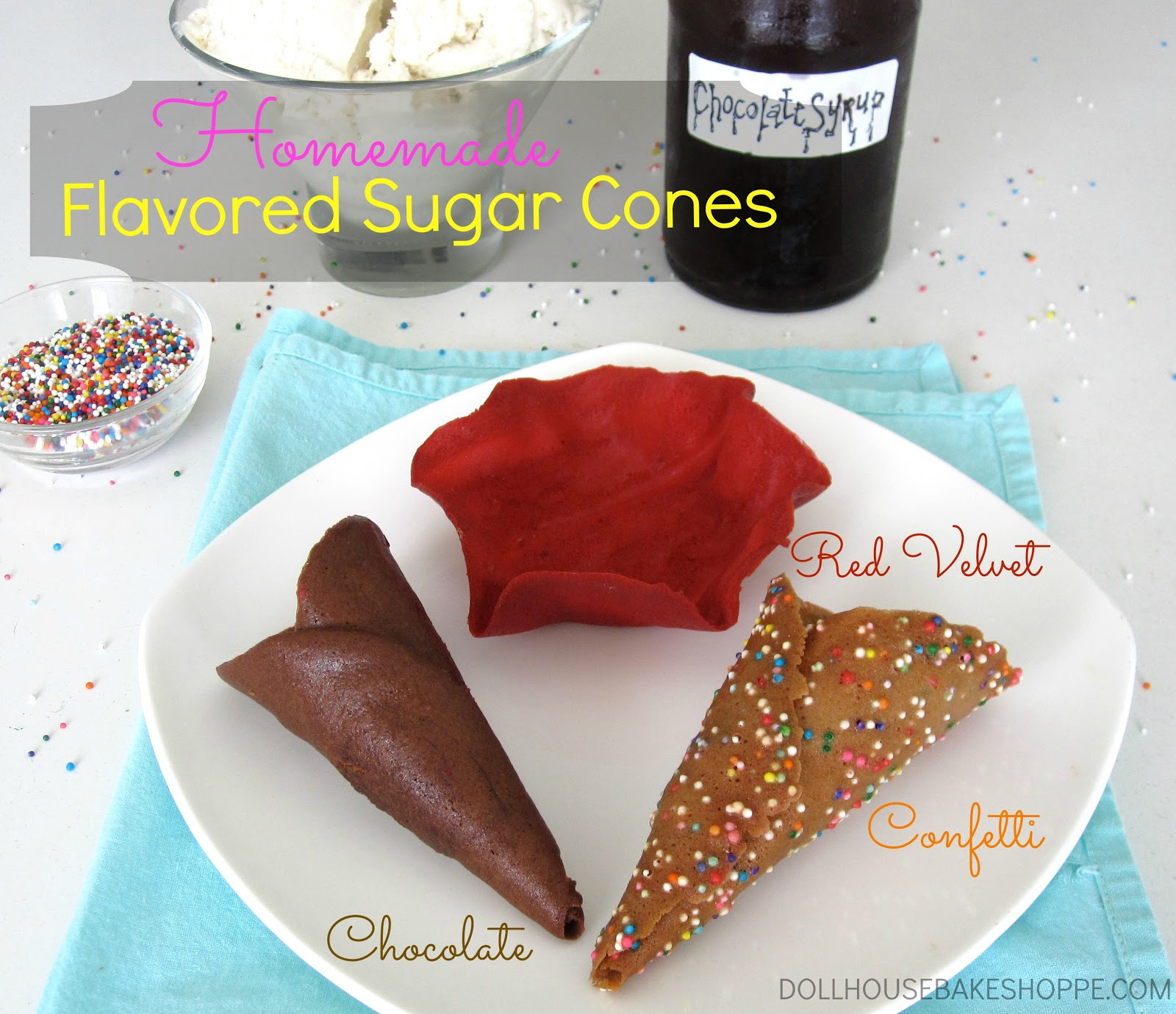 : Homemade Flavored Ice Cream Cones: Confetti Cones, Chocolate Cones ...