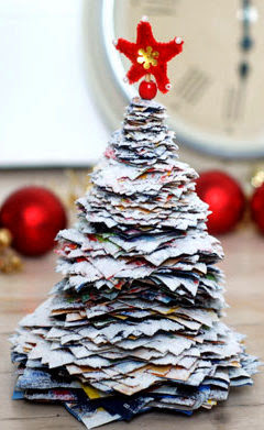 DIY Christmas Tree done with Paper.
