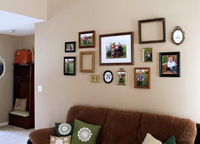 Decorating with Pictures at ONE little MOMMA